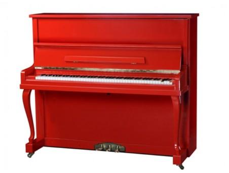 Piano Vertical marca Auditorium,  Rojo, 121cm. Nuevo. Similar Yamaha U1. TRANSP. GRATUITO.