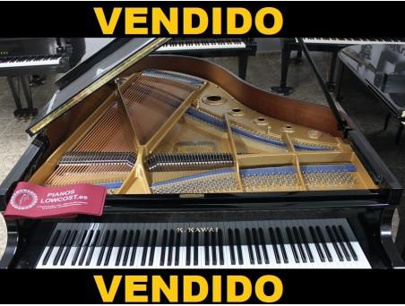 Piano cola KawaI KG3. 186cm. Nº serie 1.471.000. Negro. TRANSPORTE GRATUITO.