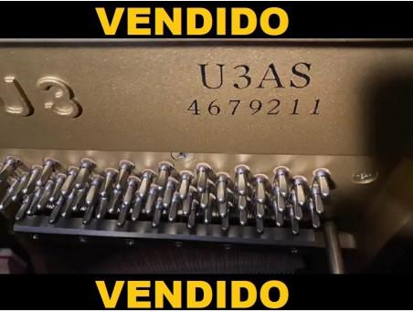 Piano Vertical Yamaha U3AS con pedal tonal, igual que un cola. 131cm. TRANSPORTE GRATUITO.
