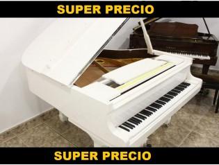 OFERTA PIANO COLA NUEVO BLANCO 160cm PIANOSLOWCOST.ES
