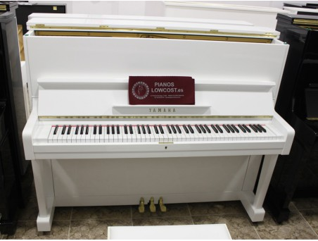 Piano Vertical Yamaha U1, U1E. Nº Serie 410.000-1.000.000. Blanco. 121cm. TRANSPORTE GRATUITO.