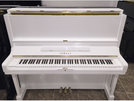 Piano Vertical Yamaha U3F, U3G. Nº Serie 1.000.000-1.400.000. Blanco. 131cm. TRANSPORTE GRATUITO.