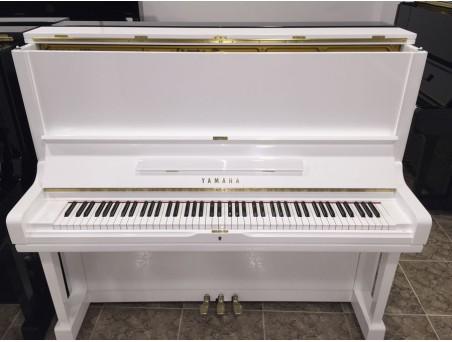Piano Vertical Yamaha U3, U3E. Nº Serie 410.000-1.000.000. Blanco. 131cm. TRANSPORTE GRATUITO.