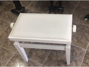 banqueta blanca regulable en altura pianos low cost.es