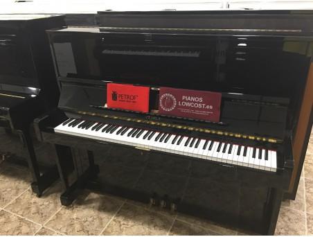 Piano Vertical Petrof modelo 125. Nº Serie 598.335. Revisado. Negro. 125cm. TRANSPORTE GRATUITO.